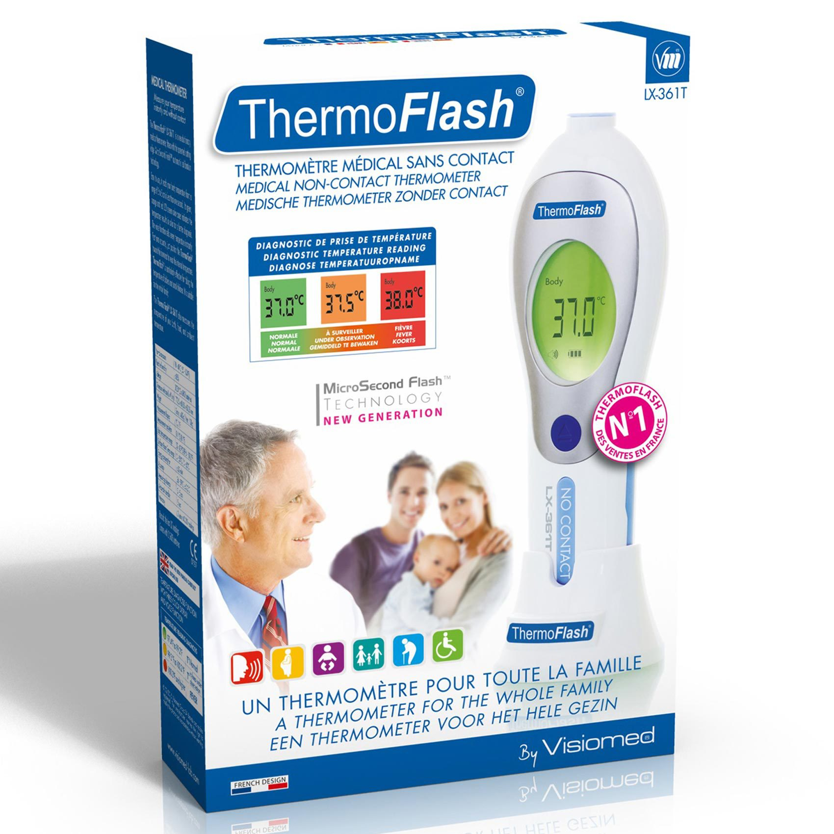 VISIOMED THERMOMETER LX-361T