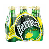 Perrier Natural Sparkling Mineral Water Lemon Glass Bottle 200mlx6