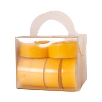 Papstar Tealight Candle 12 Pieces Yellow