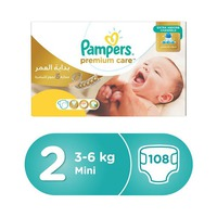 Pampers Diapers Premuim Care Mega Box Size 2  108 Pieces