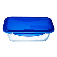 Pyrex Cook & Go Food Storage Box Rectangle With Lid 0.8Ltr