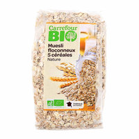 Carrefour Bio Organic 5 Cereals Flakes 500g
