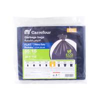 Carrefour Flat Garbage Bags Large 15 Bags 55 Gallons