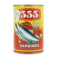555 Hot Sardines in Tomato Sauce 425g
