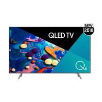 تلفزيون سامسونج سمارت بشاشة كيو إل أي دي بتقنية 4K حجم 65 إنش موديل QA65Q6FNARXTW لون فضي