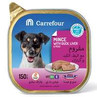 Carrefour Dog Food Mince With Duck, Liver & Peas 150g