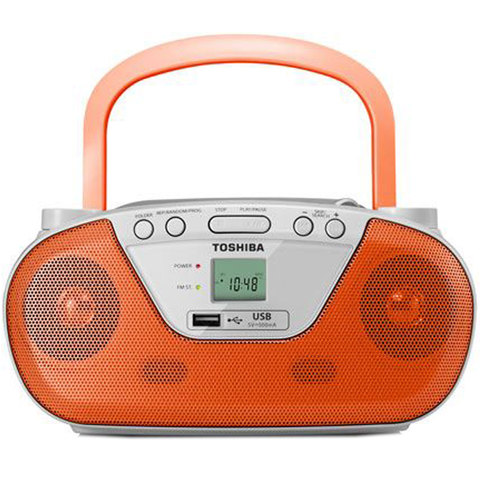 buy toshiba portable cd radio player ty cru8 orange online in uae carrefour uae. Black Bedroom Furniture Sets. Home Design Ideas