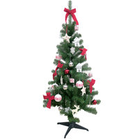 Christmas Tree - Green Tree 150Cm With 80 Deco Red And Traditional Look N41