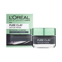 L'Oreal Paris Pure Clay Detox Black Mask with Charcoal 50ML 10% Off