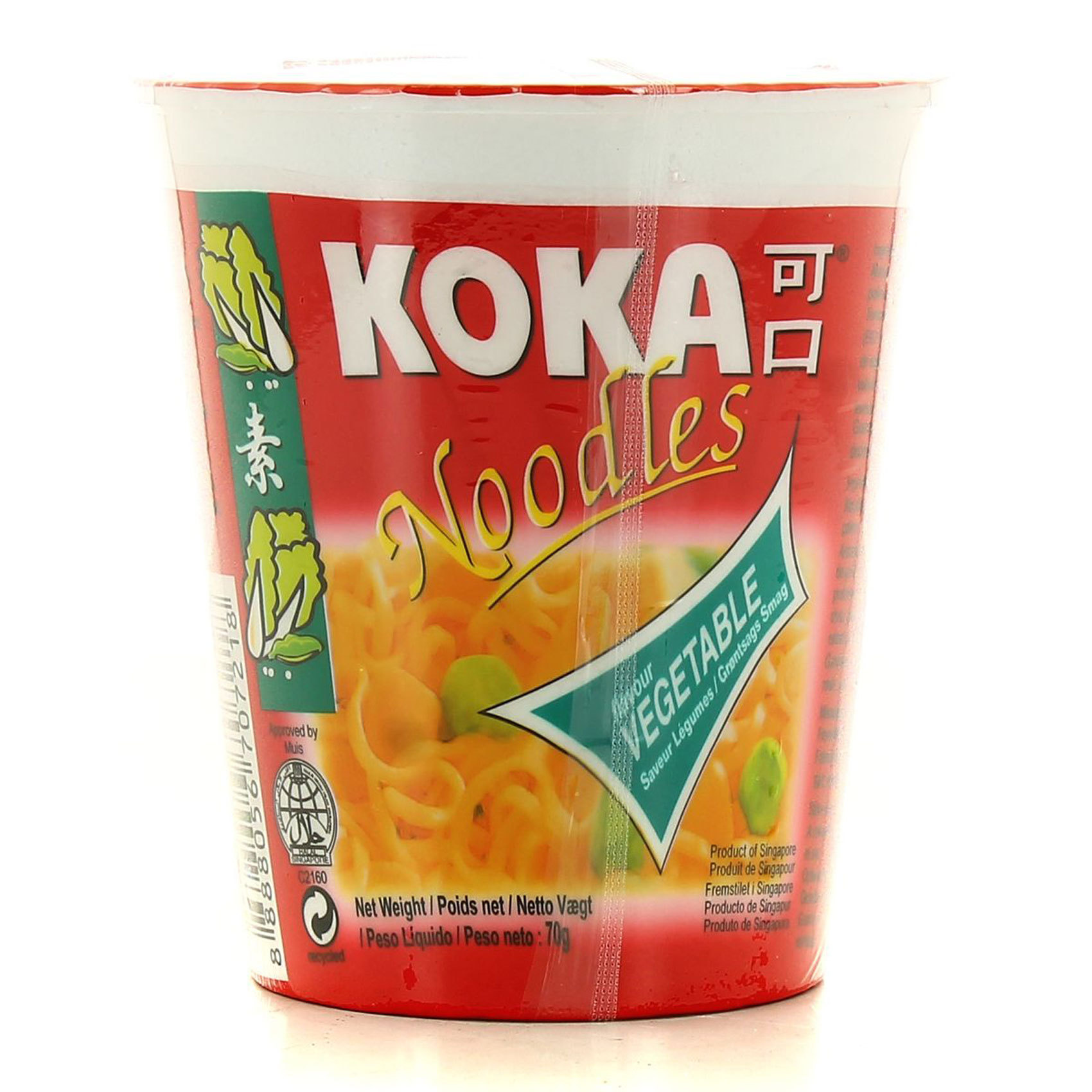 KOKA CUP NOODLES VEGETABLE 70GR