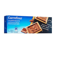 Carrefour Butter Biscuits With A Layer Of Chocolate 150g