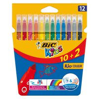 Bic Colouring Felt Pen Kid Colr Walet 10+2