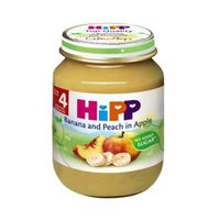 Hipp Mashed Banana & Peach & Apple From 4 Months 125GR