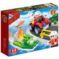 Banbao Firemen Car And Boat 62 Pcs