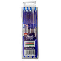 Pilot BPS-GG Super Grip Ball Point Pen Medium  Clicker 4Pcs Blue