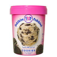 Baskin Robins Cookies 'N' Cream Ice Cream 1L