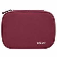 Delsey School 2018 Large Pencil Box Raspberry