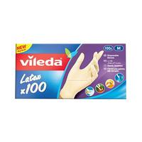 Vileda Latex Disposable Gloves Medium 60 Pieces + 40 Free
