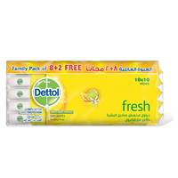 Dettol Wet Wipes Fresh Anti- Bacterial Skin X8 Pieces