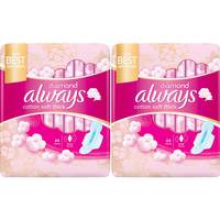 Always Premium soft Maxi Thick, Large sanitary pads with wings, 48 count