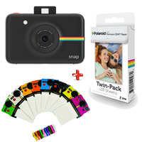 Polaroid Camera Snap Black + Zink Film 20 Sheets + Frame 8'S 2x3