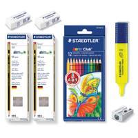 Steadtler 24 Norris pencil +12 Color Pencil +Hl+Shr+2Er+3St