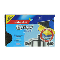 Vileda Glitzi Plus Sponge Scourer Dish Washing High Foam 2 Pieces