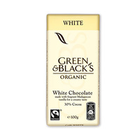 Green & Black''s Organic White Chocolate 30% Cocoa 100GR