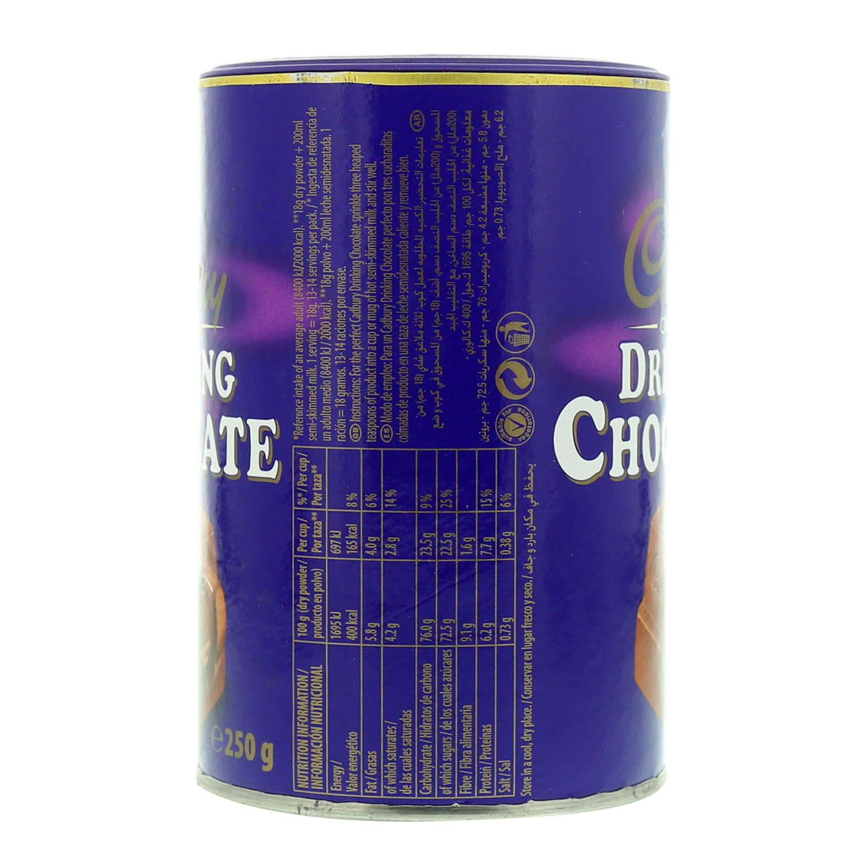 CADBURY DRINKING CHOCOLATE 250 GR