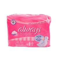 Always Sensitive Super Wings 10 Pads