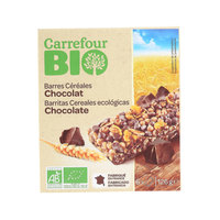 Carrefour Bio Organic Chocolate Cereal Bar 125g