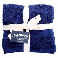 Cannon Face Towel 4pc set Mid Blue 33X33cm