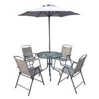 Textline Patio Set 6Pcs Without Umbrella Base