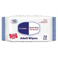 Cool & Cool Extra Large Adult Wipes 72 Wipes