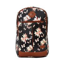 "Fusion Magnolia Black Backpack 18"""