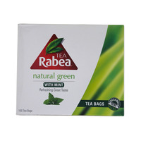Rabea Tea Natural Green Tea With Mint 100 Tea Bags
