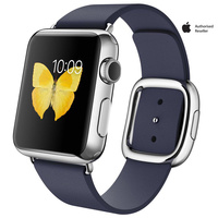 Apple Watch Series 1 38mm Stainless Steel Case with Midnight Blue Modern Buckle-Medium