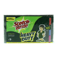 Scotch Brite Heavy Duty Scourings 9 Pads
