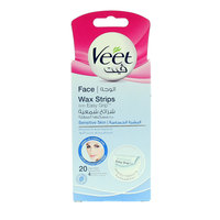 Veet Face For Sensitive Skin 20 Wax Strips