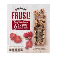 Jordans Frusli Juicy Red Berries Chewy Cereal Bars 30gx6