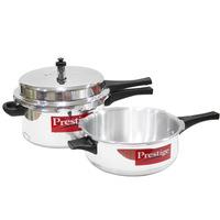 Prestige Aluminium Pressure Cooker 7.5Ltr +Pan 3.8L
