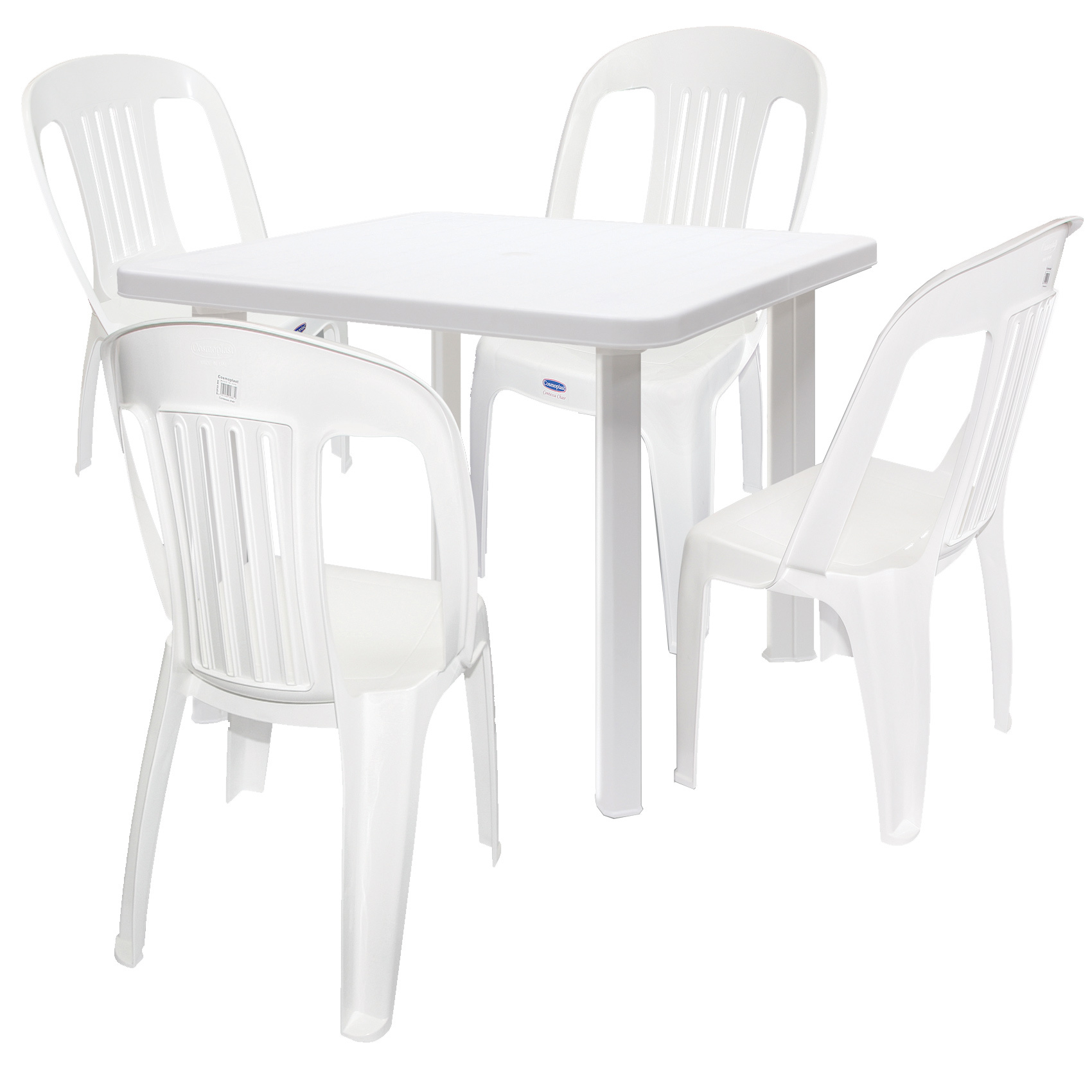 Buy Cosmo Square Set Table 4 Chairs Online In Uae Carrefour Outdoor Products Backpack Abu Cosmoplast