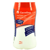 Carrefour Iodized Fine Table Salt 600g