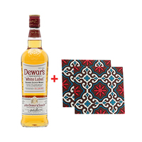 Dewar's White Label Scotch Whisky 75CL + 2 Complimentary Coasters Free