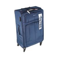 ترافل هاوس حقيبة سفر خامة ناعمة 4 عجلات مقاس 28 انش لون أزرق بحري