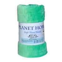 Planet Home Flannel Blanket 140X220 Aqua