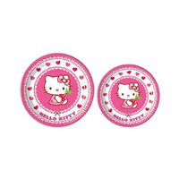 Sanrio Hello Kitty Heart Round Paper Plate 23CM 8 Pieces