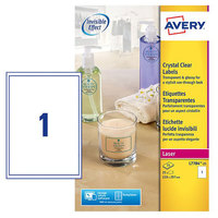 Avery Crystal Clear Label SL7784-25