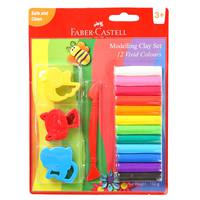 Faber-Castell 12Modeling Clay 150G Mold & T00L