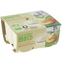Carrefour Bio Organic Mixed Apricot Yogurt 125gx4